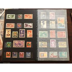 Cuốn Album tem Việt Nam chuyên sâu 194x - 195x, ghép 91 con tem giao đúng như hình bao gồm cả album