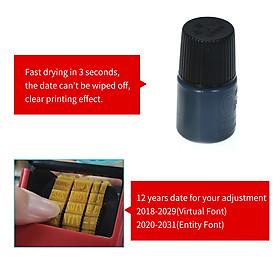 Handheld Portable Date Stamp Printer Quick-Drying Ink Date Printing Coding Machine for Food Plastic Bag Bottle Metal