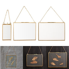 3Pcs Creative Hanging Photo Frame W/ Hook+Chain For Sample Display Ornaments