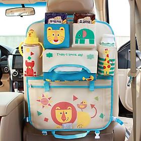 Túi treo đồ nhiều ngăn móc sau ghế ô tô, xe hơi kiểu mẫu hoạt hình dễ thương cho trẻ em
