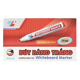 Hộp 10 Bút Lông Bảng Thiên Long WB03 - Đỏ