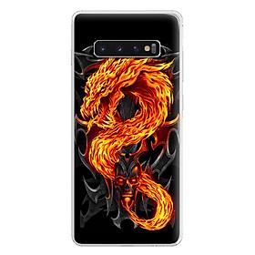 Ốp Lưng Dẻo Cho Điện Thoại Samsung Galaxy S10 - 0218 FIREDRAGON