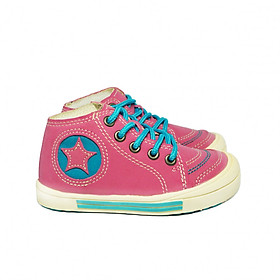 Giày Sneaker Cổ Cao Bé Gái Hồng 1 - 5 Tuổi  BG01