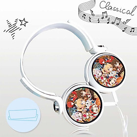 Tai nghe GENSHIN IMPACT chibi anime game dạng chụp cắm dây có mic tặng ảnh nhỏ gọn tiện lợi thời trang