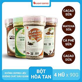 Biểu đồ lịch sử biến động giá bán Combo Bột Hòa Tan Light Coffee - Cacao sữa, Cà phê sữa, Matcha sữa, Cacao sữa dừa (90g/hũ)