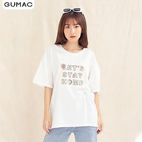 Áo thun  nữ ATA1059 GUMAC thiết kế  rộng xẻ lai