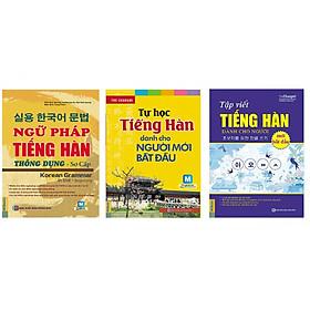 Bộ Sách Tự Học Tiếng Hàn: Ngữ Pháp Tiếng Hàn Thông Dụng Sơ Cấp +Tự Học Tiếng Hàn Dành Cho Người Mới Bắt Đầu + Tập Viết Tiếng Hàn Dành Cho Người Mới Bắt Đầu (Học Kèm App MCBooks) (Tặng Audio Luyện Nghe) (Quà Tặng: Bút Blue Đáng Yêu)