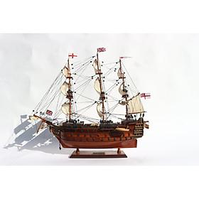 Thuyền gỗ trang trí HMS VICTORY (hàng gỗ) - 40cm
