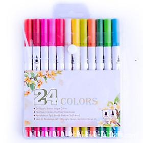 Bộ Bút lông kim 2 đầu dùng để vẽ, tô màu, viết calligraphy - set 24/ 36/ 48 màu