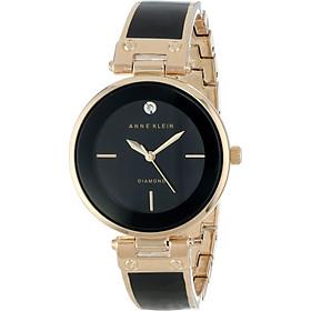 Đồng hồ nữ Đồng hồ nữ Anne Klein Women's AK/1414BKGB Diamond-Accented Bangle Watch