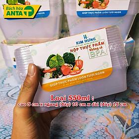 10 bộ Hộp nhựa thực phẩm có nắp dùng được cho lò vi sóng Kim Hưng   Ấn vào chọn size - hộp chữ nhật đựng thức ăn