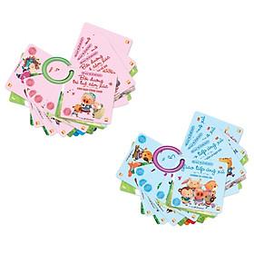Hình đại diện sản phẩm Bộ Sách Mẹ Kể Con Nghe - Bồi Dưỡng Trí Tuệ Cảm Xúc + Giao Tiếp Ứng Xử Tặng bộ thẻ flash Card theo chủ đề