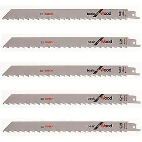Bộ lưỡi cưa gỗ 5 cây Bosch S1111K (Bạc).