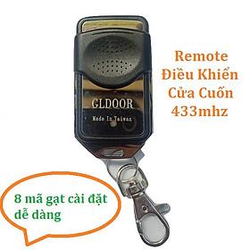 Remote Điều Khiển Cửa Cuốn mã gạt 433mhz - 8 mã gạt tự cài đặt dễ dàng