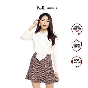 Chân Váy Chữ A Đuôi Cá K&K Fashion K&K Fashion CV02-35 Vải Tweed Đính Nút