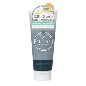 Sữa Rửa Mặt Đất Sét Khoáng Dạng Gel Nhật Bản Clayge Massage Gel Wash, Làm Sạch Sâu, Tẩy Tế Bào Da Chết, Dưỡng Ẩm Da Mịn Màng