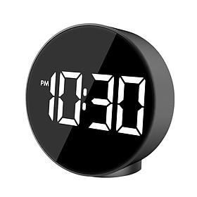 Đồng hồ báo thức điện tử có giọng nói màn hình đèn LED kỹ thuật số lớn hiển thị thời gian nhiệt độ độ C/độ F với 3 mức độ sáng