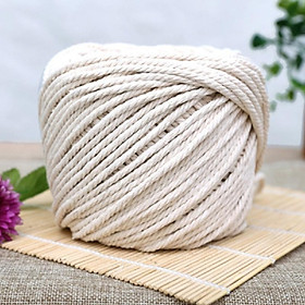 """Twisted 100% Natural Cotton Rope White Cotton Rope Handmade Art Material DIY Woven Rope 3 diameter 2mm 3mm 4mm 5mm 0.06"""" 0.09"""" 0.1"""
