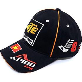 Nón thể thao Racing Team ATE cá tính Nón Trơn Store (Đen 420)