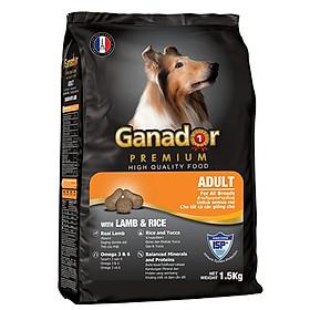 Thức ăn cho chó trưởng thành Ganador vị thịt cừu & gạo Lamb & Rice 1,5 kg