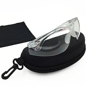 Bộ Kính trắng nam nữ thời trang A800 cao cấp bảo vệ mắt , chống bụi  , chống tia cực tím , full hộp ; tặng móc treo khóa Safe RPS