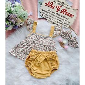 Set váy bé gái TẶNG KÈM TURBAN Đầm trẻ em THIẾT KẾ từ 0 - 8 tuổi