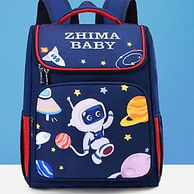 Ba lô đi học cho bé học tiểu học kiểu dáng mới nhất năm 2020 chủ đề phi hành gia sở thú bé trai siêu đáng yêu