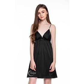 Dreamy-VX05-Váy ngủ lụa cao cấp, váy ngủ nữ, váy ngủ 2 dây, váy ngủ gợi cảm, váy ngủ sexy, đầm ngủ lụa mặc nhà có 5 màu đen, trắng, đỏ, xanh đen, và xanh bơ