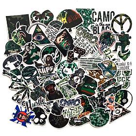 50 Sticker Camo Hình Dán Chủ Đề Camouflage Rằn Ri Họa Tiết Quân Đội Cực Ngầu Chống Nước Decal Chất Lượng Cao Trang Trí Va Ly Du Lịch Xe Đạp Xe Máy Xe Điện Motor Laptop Nón Bảo Hiểm Máy Tính Học Sinh Tủ Quần Áo Nắp Lưng Điện Thoại
