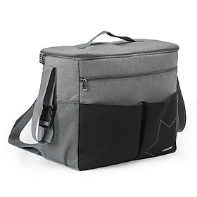 insular Diaper Bag Large Capacity Waterproof Multi-function Mommy Bag for Baby Clothes Diaper Nappy Milk Powder Bottle