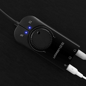 Cáp USB Sound 3.5mm Loa & Mic Có Volume control UGREEN 40964 - Hàng chính hãng