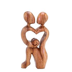 mẹ và con - tượng gỗ điêu khắc thủ công trừu tượng - quà tặng nghệ thuật trang trí nhà - bộ sưu tập gia đình