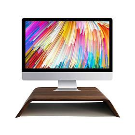 Kệ màn hình máy tính, Kệ Imac gỗ uốn cong - Veneer Walnut (Óc Chó) tự nhiên