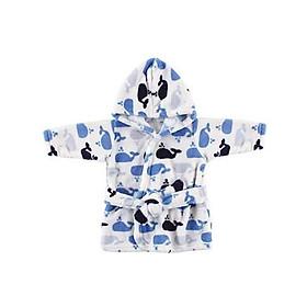 Áo choàng tắm hình cá voi xanh đai nhung Luvable Friends 05217