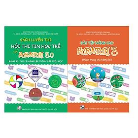 Combo Sách Bài tập Nâng Cao Scratch 3 và Sách Luyện thi Hội Thi tin học trẻ với Scratch 3 Bảng A1 – Tiểu Học