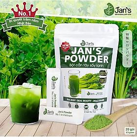 Bột Cần Tây Sấy Lạnh Jans hỗ trợ giảm cân - detox đẹp da sạch mụn -Bao bì mới túi 60g - 20 gói x 3g