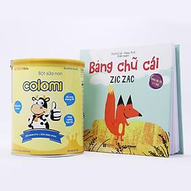 Bột sữa non Colomi 51% sữa non được nhập khẩu từ Mỹ cho bé hộp 350gr tặng kèm sách Bảng chữ cái Zic Zắc