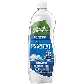 Nước Rửa Chén Gốc Thực Vật Seventh Generation Free & Clear Không Mùi 750Ml
