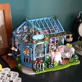 Mô hình nhà búp bê lắp ghép DIY Garden Tea House
