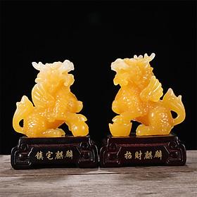 Cặp kỳ lân tượng kì lân trang trí nhà cửa quà tặng decor vật phẩm phong thủy