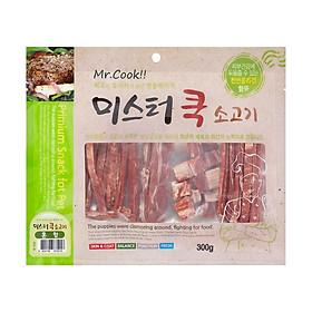 Đồ gặm snack thưởng thịt khô bò cho chó - Beef Jerky (Mr.Cook - Made in Korea)