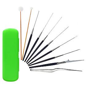 Bộ lấy ráy tai 10 món hộp nhựa xanh lá