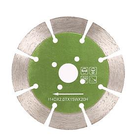 Lưỡi Cắt Kim Cương Có Lổ Làm Mát 20mm Bên Trong Bằng Đá Cẩm Thạch (114 x 2.0 x 20 mm)