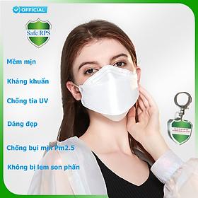 Hộp 10 cái Khẩu trang 4D Hello Mask cao cấp bảo vệ hô hấp kháng khuẩn , chống bụi siêu mịn PM2.5 ; tặng 1 móc treo khóa mica