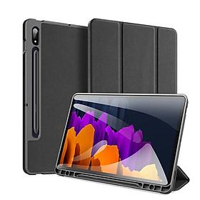 Bao da chống sốc cho Samsung Galaxy Tab S7 Plus T970/ T975 thương hiệu DUX DUCIS Domo Series cao cấp - Hàng nhập khẩu.
