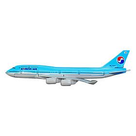 Mô Hình Máy Bay Trưng Bày Boeing 747 Korea Air Everfly (Xanh Nhạt)