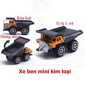 Đồ chơi mô hình xe ben mini KAVY NO.8807 chất liệu hợp kim an toàn cho bé có thể làm đồ trang trí - màu vàng
