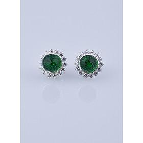 Bông tai bạc đính đá Ross xanh được thiết kế bởi thương hiệu Opal