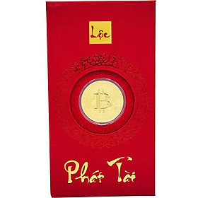 Bao lì xì vàng 24K Bitcoin Ancarat - BLX08