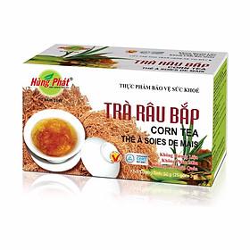 Trà râu bắp giải nhiệt mát gan Hùng Phát hộp 25 gói x 2g